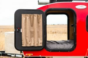 Teardrop Trailer Window Coverings | Timberleaf Trailers