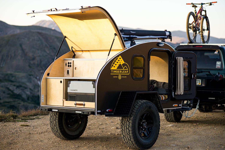 Pika Teardrop Trailer Galley Fridge   Small Camping Trailers