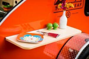 Detachable Wood Exterior Shelf For Teardrop Trailer